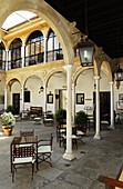 Courtyard of the Parador Nacional del Condestable Dávalos. Úbeda. Jaén province. Spain