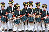 Tamborrada. Basque folklore. Fiestas de la Cruz. Legazpi. Gipuzcoa. Basque Country. Spain