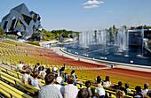 Futuroscope, image and sound theme park. Poitiers. Vienne, Poitou-Charentes, France