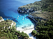 Cala Macarella. Minorca. Balearic Islands. Spain