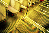 Bus, Buses, Busses, Cities, City, Coach, Coaches, Color, Colour, Daytime, Horizontal, Indoor, Indoors, Inside, Interior, Nobody, Public transport, Public transportation, Seat, Seats, Transport, Transportation, Transports, Urban, Vehicle, Vehicles, B75-25