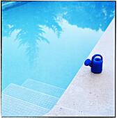 Bathe, Bathes, Bathing, Blue, Border, Calm, Calmness, Color, Colour, Concept, Concepts, Daytime, Edge, Exterior, Garden, Gardens, Leisure, Mirror image, Mirror images, Outdoor, Outdoors, Outside, Peaceful, Peacefulness, Quiet, Quietness, Reflection, Refl