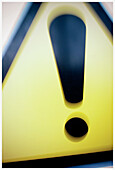 Attention, Attentive, Blurred, Close up, Close-up, Closeup, Color, Colour, Concept, Concepts, Danger, Exclamation mark, Exclamation marks, Hazard, Road sign, Road Signs, Symbol, Symbols, Traffic sign, Traffic signs, Transport, Transportation, Transports,