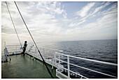 Ship. Journey Mallorca-Menorca. Balearic Islands. Spain.