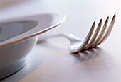 Close up, Close-up, Closeup, Color, Colour, Concept, Concepts, Cutlery, Detail, Details, Dish, Dishes, Fork, Forks, Horizontal, Indoor, Indoors, Interior, Object, Objects, Plate, Plates, Restaurant, Restaurants, Service, Still life, Thing, Things, CatAcc
