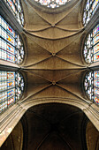 Arch, Arches, Architecture, Art, Arts, Ceiling, Ceilings, Color, Colour, Concept, Concepts, Daytime, Gothic architecture, Height, Indoor, Indoors, Interior, Low angle view, Stained glass window, Stained glass windows, Tall, Traceries, Tracery, Vault, Vau