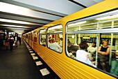 Urban railway station. Berlin. Germany