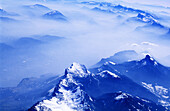 Aerial view, Aerial views, Background, Backgrounds, Blue, Cloud, Clouds, Color, Colour, Concept, Concepts, Daytime, Exterior, Horizontal, Mountain, Mountain range, Mountains, Natural background, Natural backgrounds, Nature, Outdoor, Outdoors, Outside, Pe