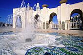 Fountain at Hassan II mosque. Casablanca. Morocco