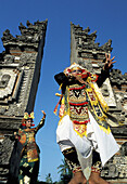 The Baris Dance (only performed by young artists). Bali Island. Indonesia