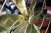 Old fashioned copper fan. Chatuchak Sunday Market. Bangkok. Thailand