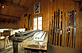 Musee de la Boissellerie (museum of wood industry installed in an old water mill). Jura. Bois d Amont. Doubs. Franche-Comte. France