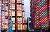 Statue of Liberty and buildings. Paris. France