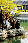 Red fishes pond at Lu Garden, Suzhou. Kiangsu province, China