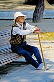 Elderly woman. Hiroshima. Japan.