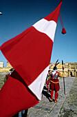 In Guardia, weekly historical reenactment. Saint Elmo s Fort. Valletta. Malta.