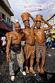 Mardi-Gras parade and preparation. Carnival. Grenada island. Caribbean
