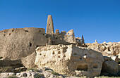 Remains of the oracle temple in the Siwa oasis, Lybian desert. Egypt