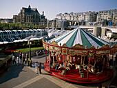 Merry-go-round on Place des Halles. Paris, France