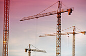 Architecture, Cities, City, Color, Colour, Construction, Crane, Cranes, Daytime, Detail, Details, Exterior, Horizontal, Outdoor, Outdoors, Outside, Urban, B20-219136, agefotostock