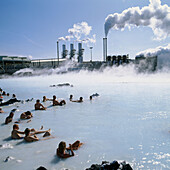 Geothermal power plant, Svartsengi, The Blue Lagoon, Grindavik, Iceland