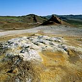 Geothermal phenomenon, Namaskard, Namafjall, Myvatn, Iceland