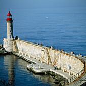 Dragon s wharf, Old harbour, Bastia, Corsica Island, France