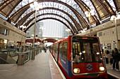 Canary Wharf underground station. London. England. UK.