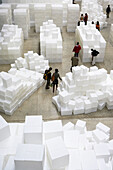 Embankment, by Rachel Whiteread, The Unilever Series, Turbine Hall, Tate Modern, London. England. UK.