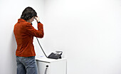 Office, woman on phone