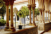 Cloister-graveyard of the Convent of the Knights of Christ, part of the old castle of the Knights Templar. Tomar. Portugal