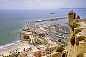 Vew from the Santa Barbara castle at Alicante. Spain.