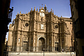 Façade of the cathedral of Guadix. Granada. Spain.