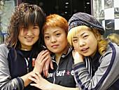 Portrait of teenage girls. Beijing, China