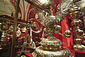 Moscow, Russia, Treasury Museum, Kremlin, silver bowl, eagle in silver.