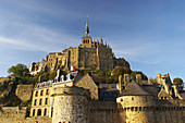 Le Mont St-Michel in the afternoon, Baie du Mont St-Michel, Normandie, dept Manche, France, Europe