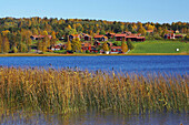 Fall in Leksand at the lake Siljan, Dalarna, middle Sweden
