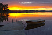After sunset at the lake Noren near Norberg, Dalarna, middle Sweden