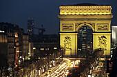 Arc de Triomphe. Champs Elysées. Paris. France.
