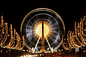 Christmas time. Big wheel. Place de la Concorde. Paris. France.