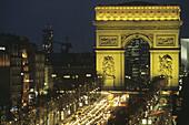The Arc de Triomphe. Champs Elysées. Paris. France.