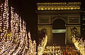 Champs Elysées from Place de la Concorde to Arc de Triomphe. Paris. France.