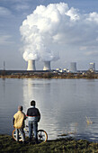 The Cattenom nuclear power station. Moselle. France