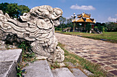 Ornamental dragons in the Purple Forbidden City. Imperial Citadel. Hue. Vietnam