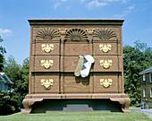 Giant Chippendale furniture dresser. High Point. North Carolina, USA