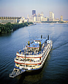 Majestic riverboat, downtown Pittsburgh. Pennsylvania, USA