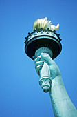 Torch of Statue of Liberty. New York City, USA