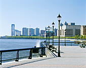 Waterfront promenade. Jersey City. New Jersey, USA