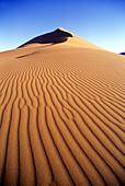Scenic desert sand dune, Sossusvlei, Namib-naukluft desert park, Namibia.