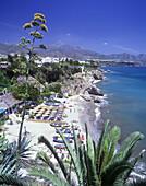Playa, Butihonda, Nerja coastline, Costa de almeria, Andalucia, Spain.
